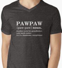 Pfote-Tatze-Definitions-lustige Bedeutung Vatertag Geschenk T-Shirt mit V-Ausschnitt