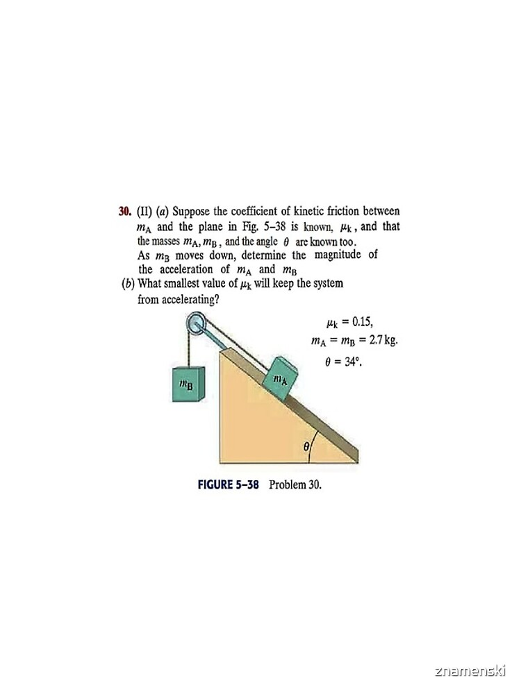 Physics problem: Suppose the coefficient of kinetic friction between the mass and the plane is known. #Physics #Education #PhysicsEducation,  by znamenski