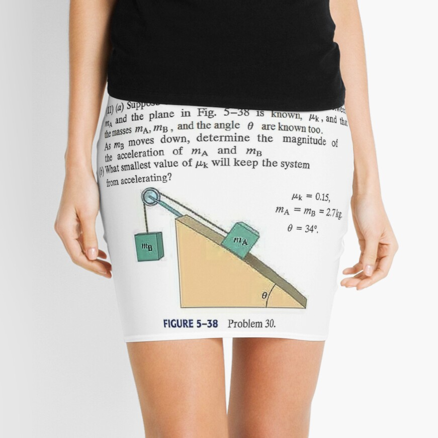 Physics problem: Suppose the coefficient of kinetic friction between the mass and the plane is known. #Physics #Education #PhysicsEducation,  Mini Skirt
