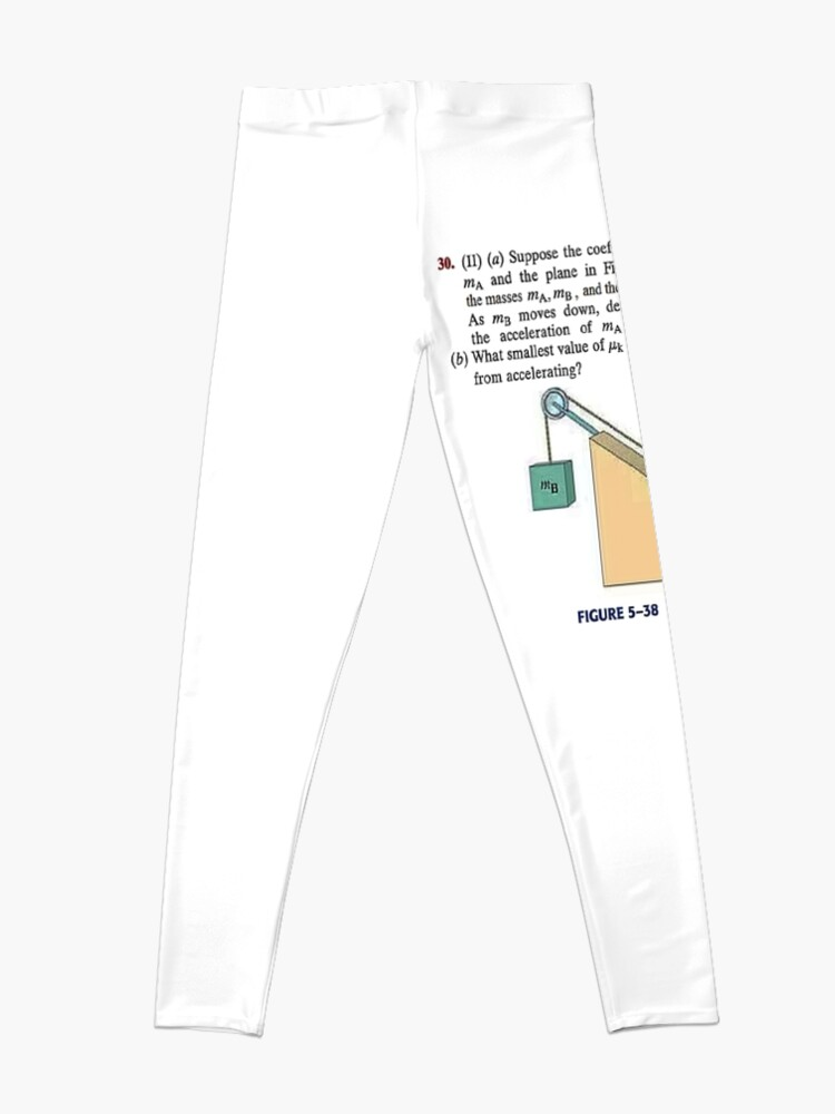 Alternate view of Physics problem: Suppose the coefficient of kinetic friction between the mass and the plane is known. #Physics #Education #PhysicsEducation,  Leggings
