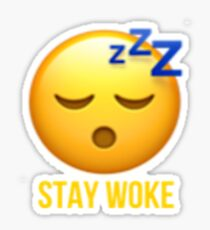 Stay Woke Emoji Sticker