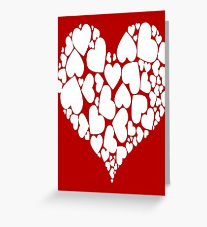 A Heart Full Of Love Red Valentine Hearts Within A Heart Greeting Card