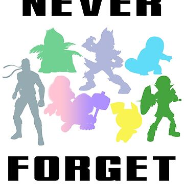 Never Forget - Multi (Black) by sm4shshorts