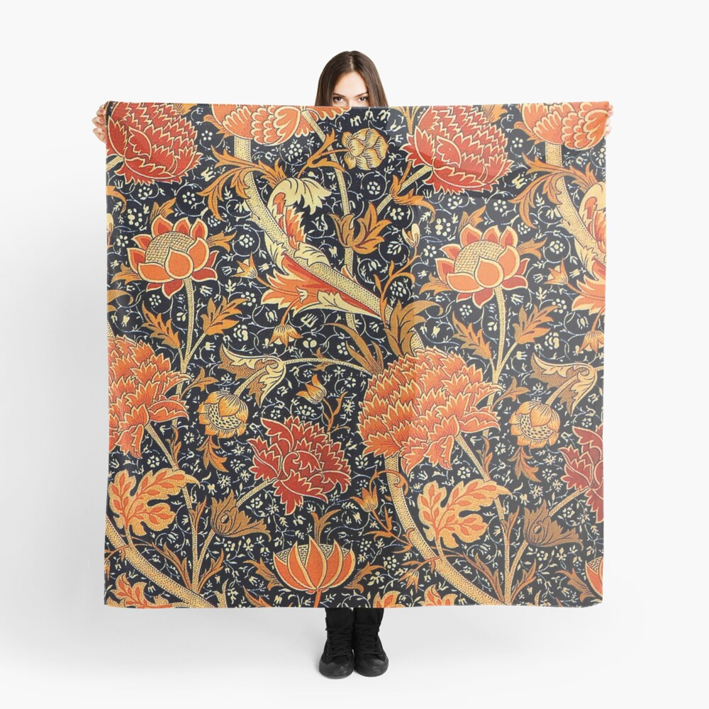 Cray, vintage pattern by William Morris Scarf