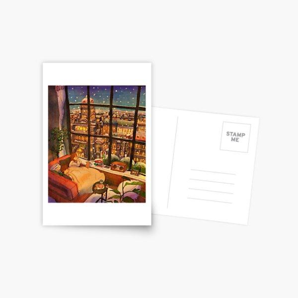 A white winter Postcard