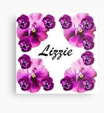 Personalised flowers Metal Print