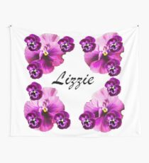 Personalised flowers Wall Tapestry