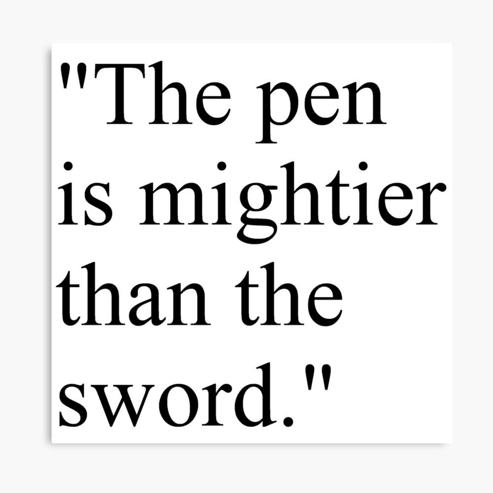 "Proverb: ""The pen is mightier than the sword."" #Proverb #pen #mightier #sword. Пословица: ""Перо сильнее меча"" Canvas Print"