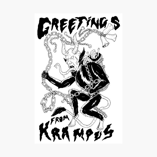 Greetings From Krampus Photographic Print