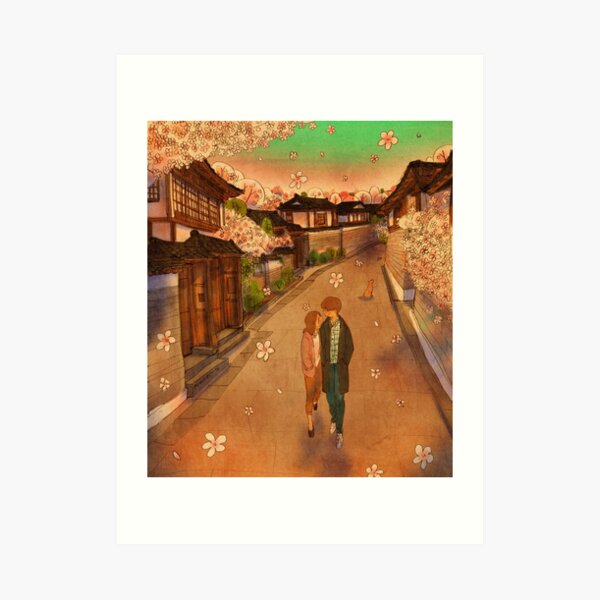 Hanok Village Art Print