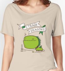 I Train Dragons - Cool Dragon Women's Relaxed Fit T-Shirt