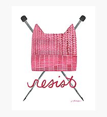 Knit a Pussy Hat and Resist Photographic Print