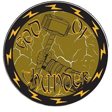 God of thunder by spiderkilla