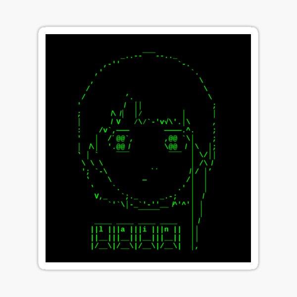 ASCII Lain Sticker
