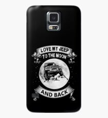 love my jeep to the moon and back t shirt Case/Skin for Samsung Galaxy