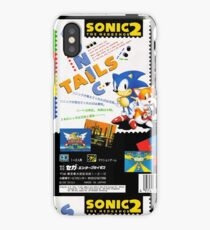 Sonic The Hedgehog 2 Box Art iPhone Case/Skin