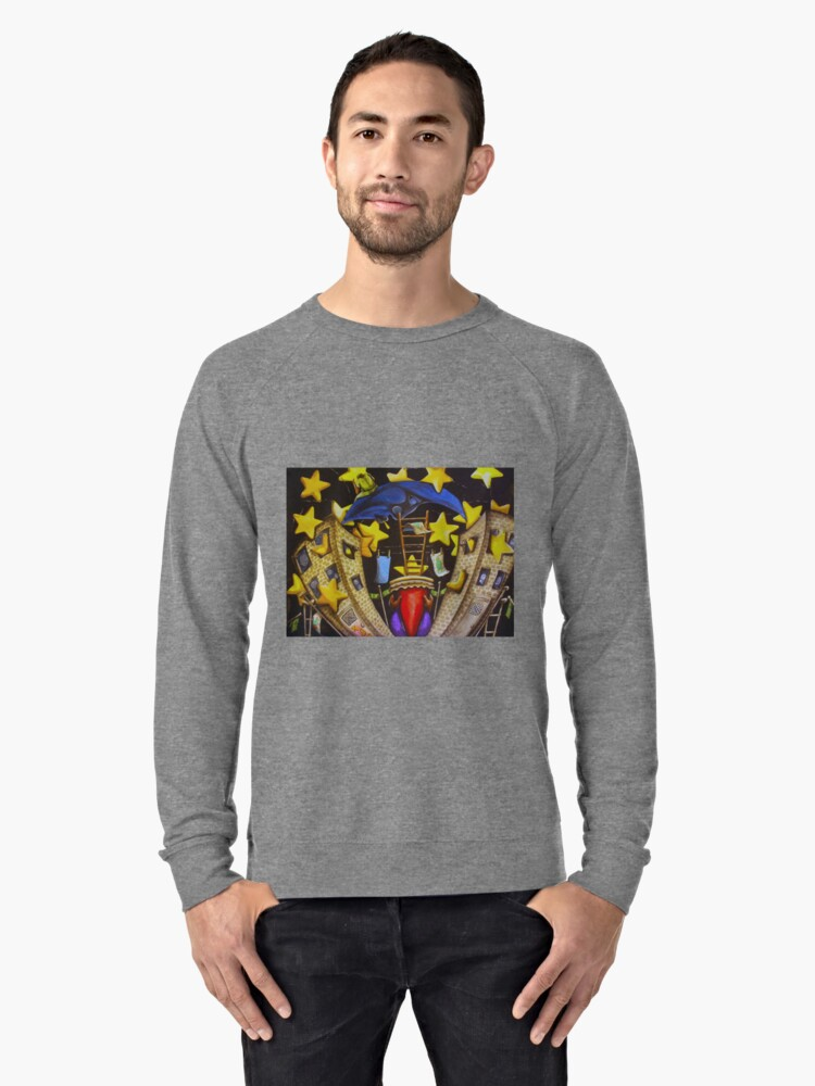 A Starry Night in The Bronx Lightweight Sweatshirt Front