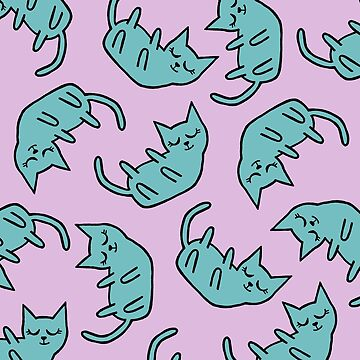 Peaceful Kitty Pattern by namibear