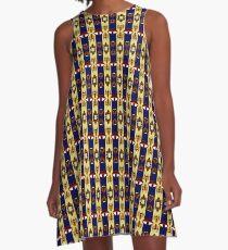 Padmé - Bold Lipstick A-Line Dress