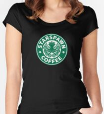 Cthulhu Starswpawn Coffee - Dark Lord's Coffee of Choice Women's Fitted Scoop T-Shirt
