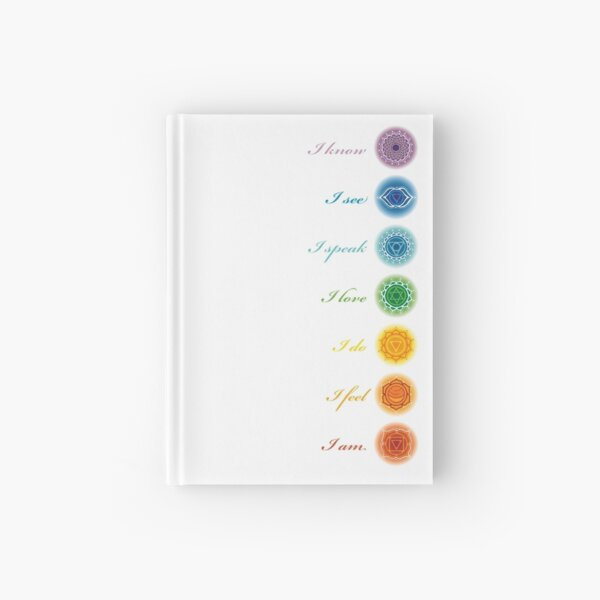 Chakra bottle stickers Hardcover Journal