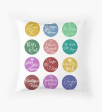 Newsies Songs Throw Pillow