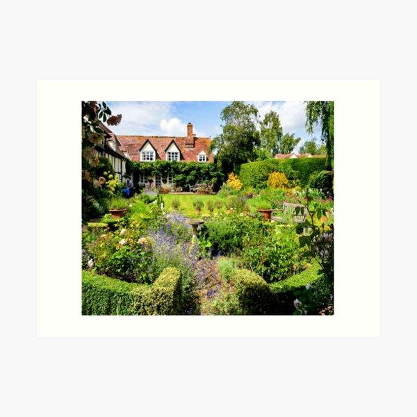 Cottage garden. Art Print