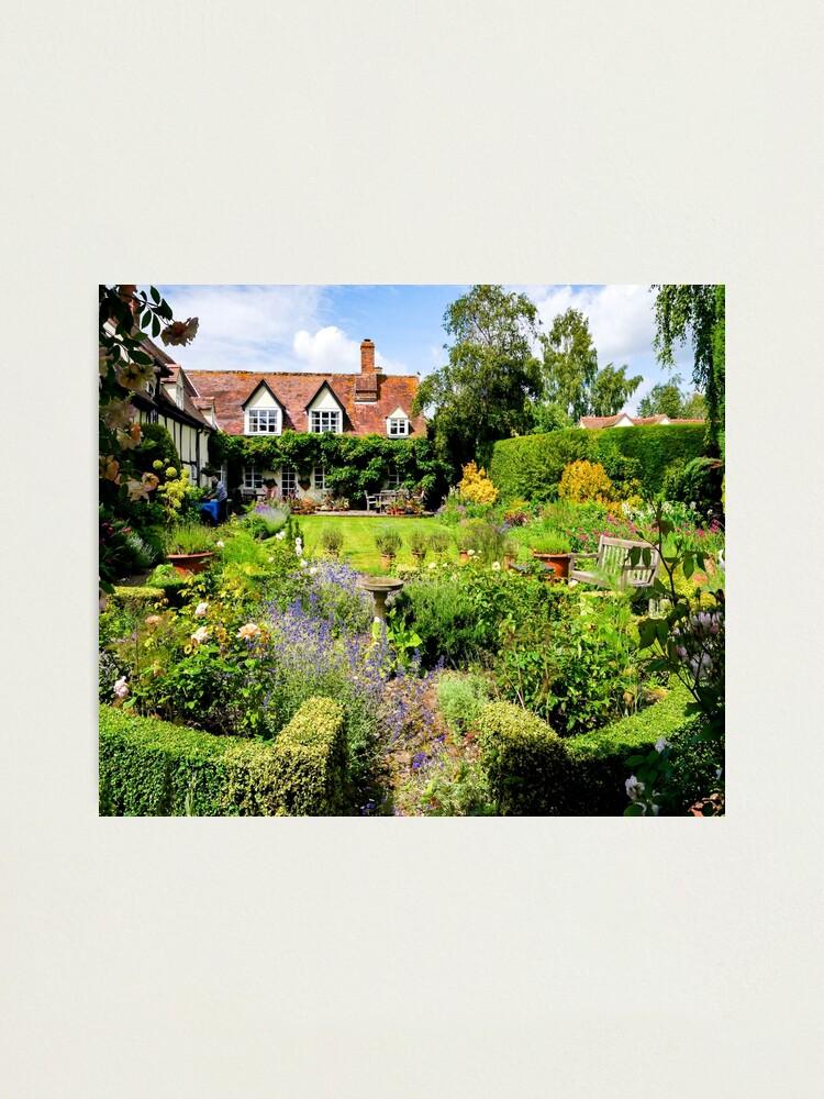 Alternate view of Cottage garden. Photographic Print