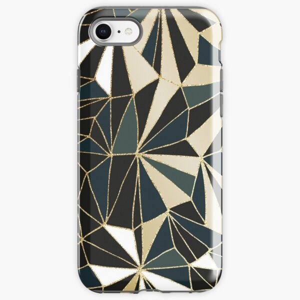 New Art Deco Geometry - Emerald Green & Gold iPhone Tough Case