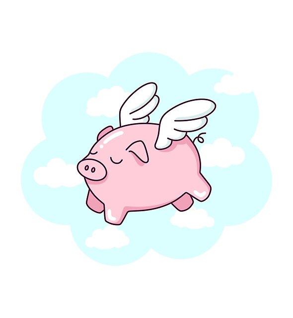 Flying Pig by sombrasblancas
