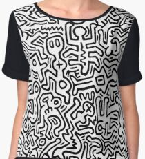 Mural (Keith Haring) Chiffon Top