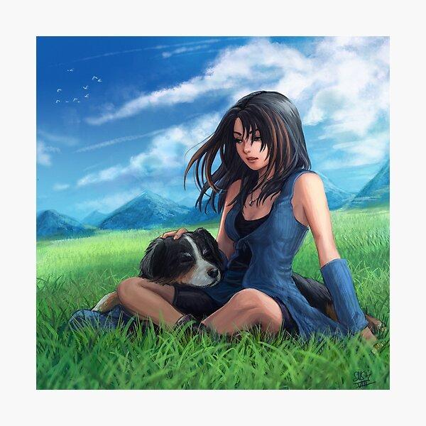 Final Fantasy VIII - Rinoa and Angelo Photographic Print