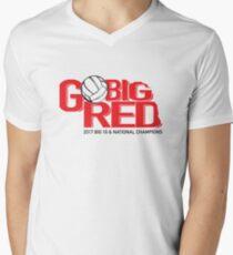 Nebraska Volleyball Men's V-Neck T-Shirt