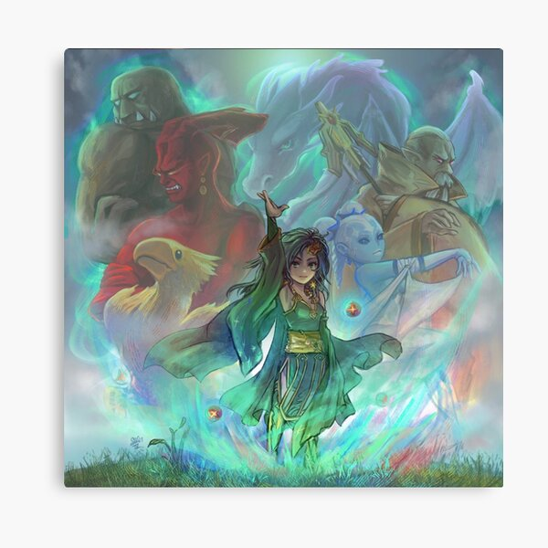 Final Fantasy IV - Rydia de brume Impression sur toile