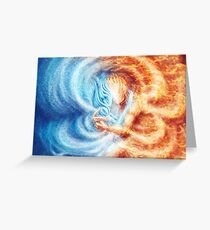 Fire and Ice  (closeup, rectangle) Greeting Card