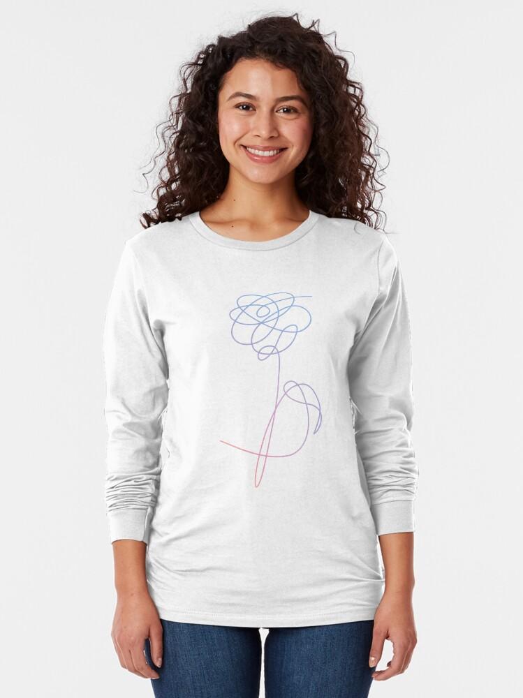 Alternate view of BTS Love Yourself Flower Long Sleeve T-Shirt