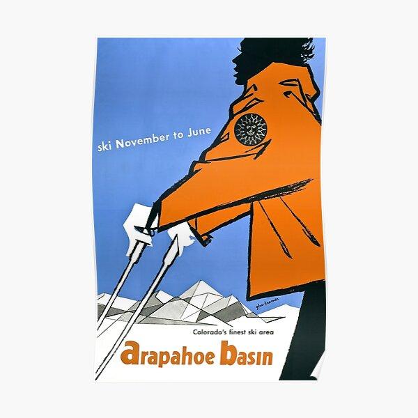 Arapahoe Basin, ski poster Poster