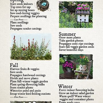 The Gardening Year Through the Seasons by empressofdirt