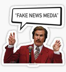 Fake News Media - Ron Burgundy, Anchorman, Trump Sticker