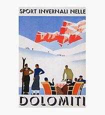 Dolomites, Italy Vintage Travel Poster Photographic Print