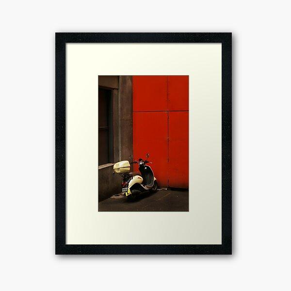 Scooter Framed Art Print
