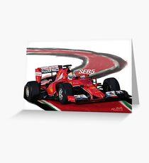 Ferrari SF15-T - Seb5 Greeting Card