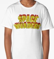 Space Invaders Arcade Type Long T-Shirt