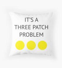 A Three Patch Problem Floor Pillow