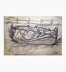 OLD FISHING BOAT Photographic Print