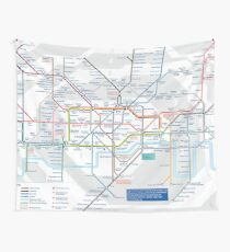 London Underground and City Map - HD Wall Tapestry