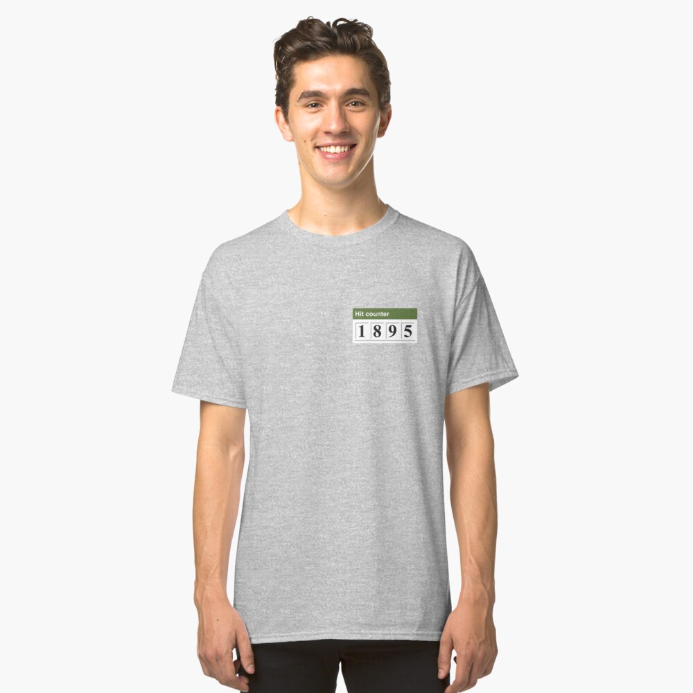 1895 Hit counter Classic T-Shirt Front
