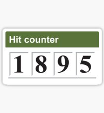 1895 Hit counter Sticker