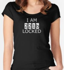I am 221b locked Women's Fitted Scoop T-Shirt