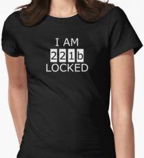I am 221b locked Women's Fitted T-Shirt